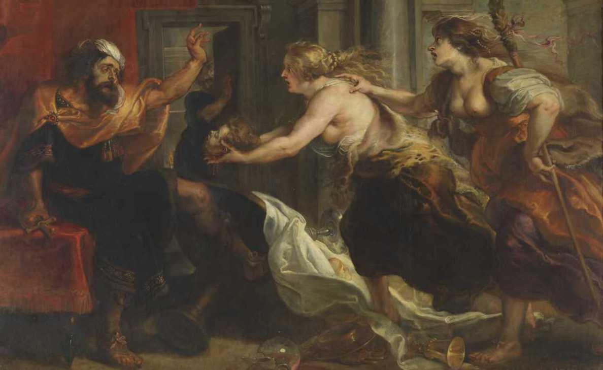 Peter Paul Rubens festményén (1636–1638) az látható, amint a hiányos öltözetű nővérek éppen közlik Tereus-szal, hogy amit az imént jóizűen elfogyasztott vacsorára, az a saját fia volt.